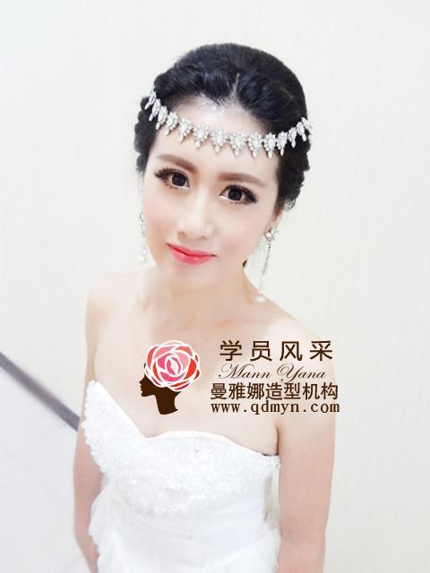 青岛化妆学校★年度学员作品大比拼★第一团队作品--曼雅娜品牌