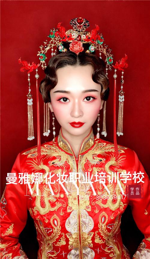 青岛曼雅娜国际化妆学校-新娘造型